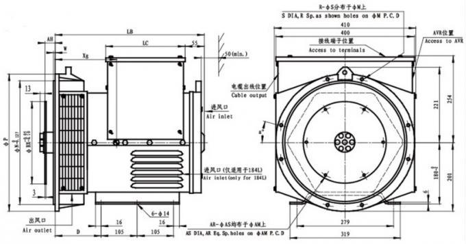 Stamford AC Alternator Generator / Diesel Brushless
