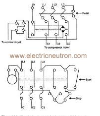 Electrical Drawing Of D.o.l. Starter