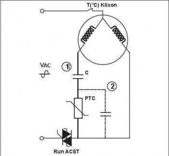 single phase run capacitor wiring diagram home sound system compressor for air condition electrical engineering motor 1