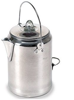 Stansport Aluminum Percolator Coffee Pot, 9 Cups
