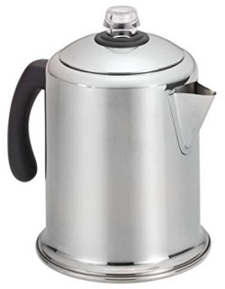 Farberware Classic Stainless Steel Yosemite 8-Cup Percolator Coffee Pot
