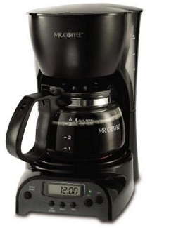 Hot Bestseller Mr. Coffee 4-Cup Programmable Coffeemaker DRX5, Black, New,