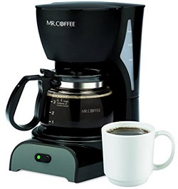 Mr. Coffee DR5 4-Cup Switch Coffeemaker, Black