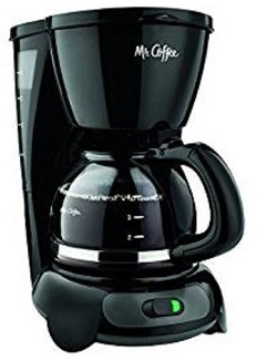 Mr. Coffee TF5GTF 4-Cup Switch Coffeemaker, White with Gold Tone Filter