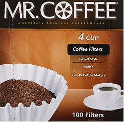 Rockline Industries Inc JR100 4 Cup 100-Count Coffee Filter For Mr. Coffee