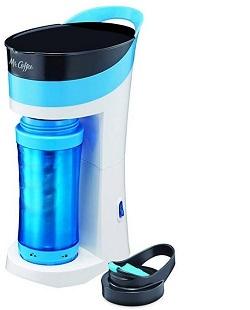 Mr. Coffee Pour! Brew! Go! Personal Coffee Maker, Caffeine Blue