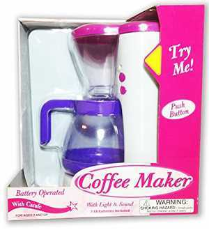 Polyfect Coffee Maker Battery Operated with Lights and Sounds