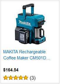 makita rechargeable coffee maker