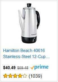 2 HAMILTON BEACH 12 CUP COFFEE MAKER