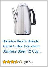 4 HAMILTON BEACH 12-CUP PERCOLATOR