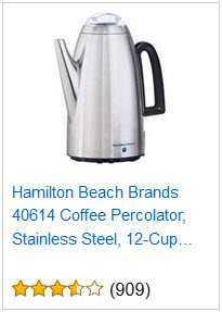 4 HAMILTON BEACH 12-CUP PERCOLATOR