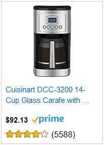 5 cuisinart 14 cup glass carafe coffee maker