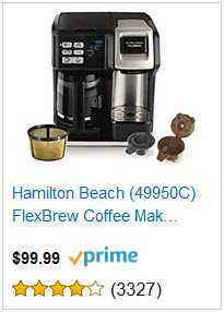 6 hamilton beach flexbrew coffee maker