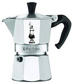 1a Bialetti The Original Moka Express - 3 Cup Stovetop Coffee Maker with Safety Valve - Brews 4.4 Ounces