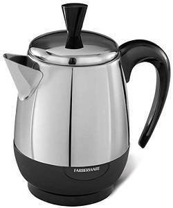 3a Farberware 2-4-Cup Percolator, Stainless Steel, FCP240
