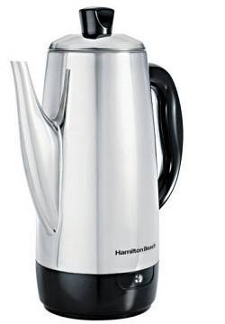 4a Hamilton Beach 40616 Stainless-Steel 12-Cup Electric Percolator