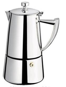 9a Cuisinox Roma 10-cup Stainless Steel Stovetop Moka Espresso Maker, Stainless steel