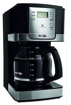 9a Mr. Coffee JWX27-NPA 12-Cup Progammable Coffeemaker, Black