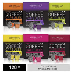 Bestpresso Coffee for Nespresso Original Machine 120 pods
