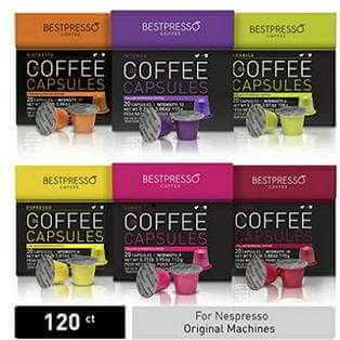 Bestpresso Coffee for Nespresso Original Machine 120 pods