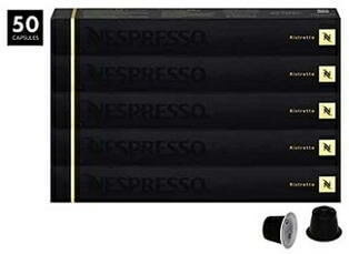 Nespresso Ristretto OriginalLine Capsules, 50 Count Espresso Pods, Intensity 10 Blend