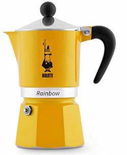 Bialetti 4982 Rainbow Espresso Maker, Yellow
