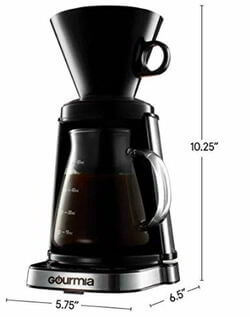 0 Gourmia Digital Touch Pour-Over Coffee Maker