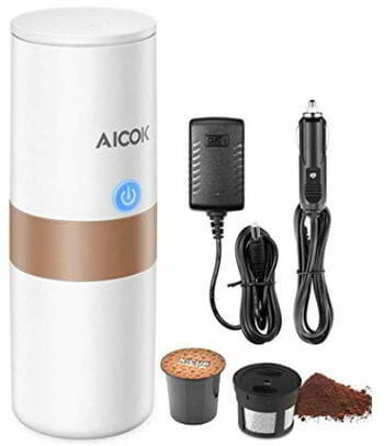 6 Portable Single Serve Coffee Maker, 2 in 1 Coffee Machine for for Most Single Cup Pods