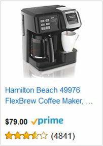 Hamilton Beach 49976 FlexBrew Coffee Maker, Single Serve & Full Pot