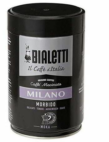 Bialetti Coffee, Moka Ground, Light Roast, Milano, Italy
