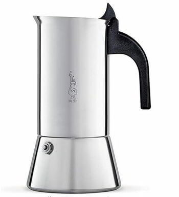 Bialetti Elegance Venus Induction 10 Cup Stainless Steel Espresso