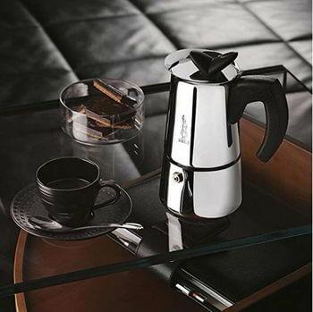 Bialetti 06955 moka Musa Stove top Coffee Maker, 4-Cup, Silver