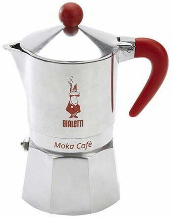 Bialetti, 06786, Moka Cafe 3 cup, Stove Top Espresso Maker, Red