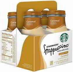 Starbucks Frappuccino Coffee Drink, Caramel, 9.5 Fl Oz (pack of 4)