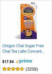 Oregon Chai Sugar Free Chai Tea Latte