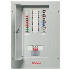 6 Way Tpn Distribution Board Basic Ignition System Wiring Diagram Contactum Tp N Complete With Incomer 3 Phase