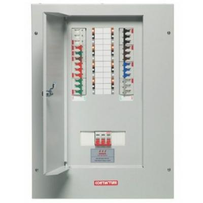 3 Way Lighting Wiring Diagram Contactum 12 Way Tp Amp N Distribution Board Complete With
