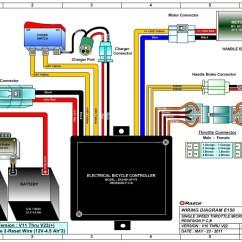 Razor E100 Electric Scooter Wiring Diagram Wye Delta Motor E150 Parts - Electricscooterparts.com