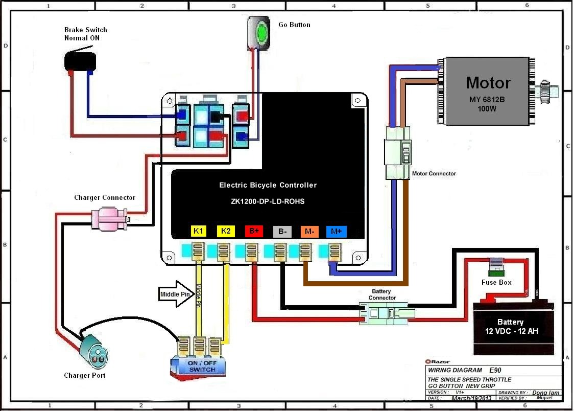e scooter wiring diagram ez go gas golf cart electric trikke autos post