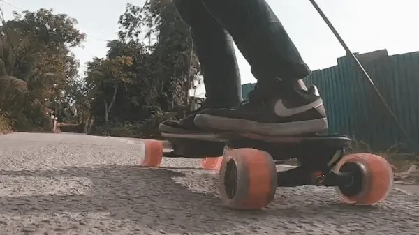 Riding with Cloudwheels Donut 105mm
