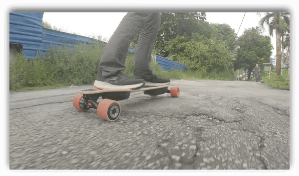 Meepo V4 on poor road