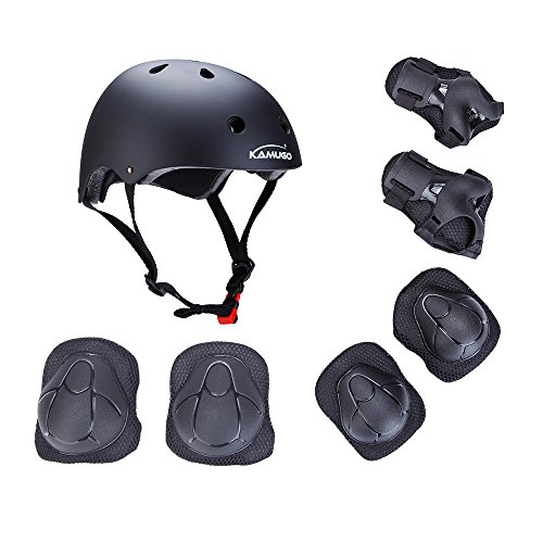 52-57cm L Skateboard//Skate Protection Set with Helmet M SymbolLife Helmet with 6pcs Elbow Knee Wrist Pads for Kids BMX//Skateboard//Cycling for Head Size S 57-62cm 48-52cm