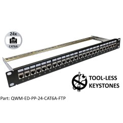 Cat6 Wall Jack Wiring Diagram Control Of 3 Phase Motor Keystone Patch Panels 24 Port Electriduct 1 Review S