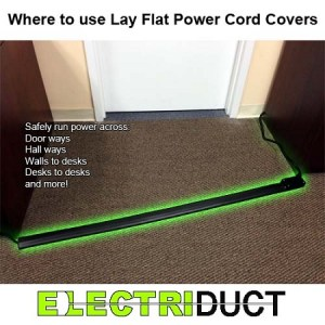LayFlat Low Profile Electrical Power Extension Cord | Power Distribution | UL Listed