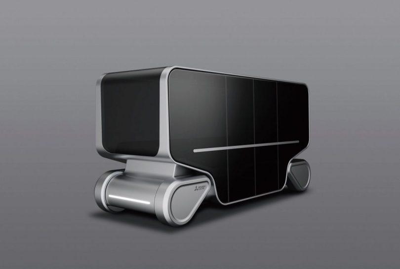 »Emirai S« ist ein Konzeptfahrzeug, das unter dem Motto ›Mobilität für bessere Tage‹ steht. Es ermöglicht eine sanfte Fahrt, und die Anbindung an die jeweilige Gebäudestromversorgug spart Energie.