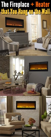 Wall Mount Electric Fireplace... or Recessed?