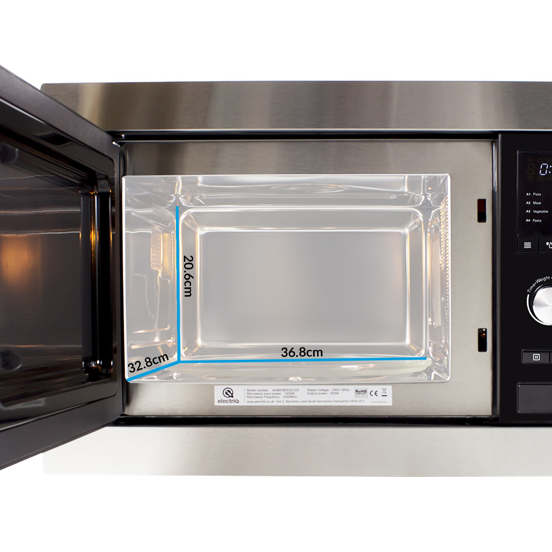 electriq stainless steel 25l built in digital standard microwave