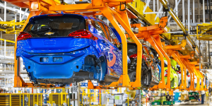 Chevy Bolt in Orion facility