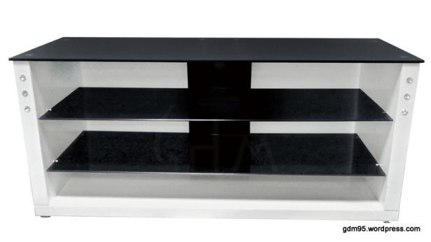 meuble tv noir et blanc tv03b electro discount