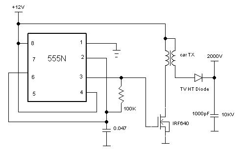 Electric Fly Swatter Circuit Diagram Circuit And Schematics Diagram